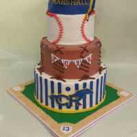 Baseball Player Graduation Graduation cake