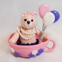 Bear In A Teacup Cake Topper Bear in a Teacup Cake Topper