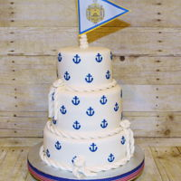 Graduation Cake This was made for a high school graduate who had been accepted into the Naval Academy