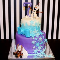 Frozen Birthday Cake Olaf & Moose Birthday Cake