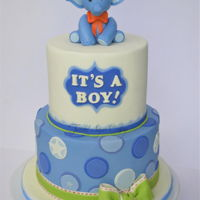 Boy Baby Shower The cake was made to match the party decor.