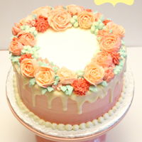 Buttercream Floral Wreath Cake I made this cake this past Saturday in a Susan Trianos 'Better Buttercream' class hosted by Icing Inspirations in...