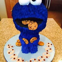 Cookie Monster Cake My 3D take on. Cookie Monster cake