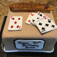 Cribbage Cake Cribbage board and cards are fondant