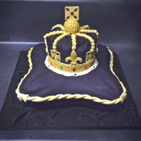 Crown And Pillow Cake Queens royal crown and pillow cake