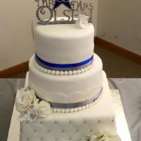 Dallas Cowboy Wedding Cake For my son, who insisted that he have a football themed wedding! Ugh!