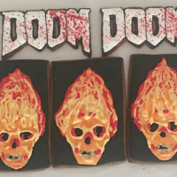 Doom Cookies   Based on the original video game. Video tutorial at