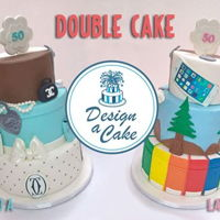 Double Cake An idea to join two different girl's hobbies for their 50th birthday!!!!
