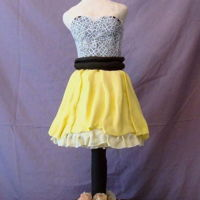 Dress Cake Bodice is sculpted RKT and skirt is cake.