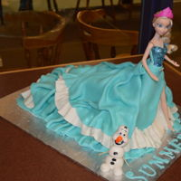Elsa Barbie Cake elsa Barbie dress cake