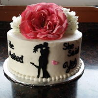 Engagement Cake I absolutely loe doing silhouettes. This was my 1st time doing a silhouette and love the look when they are all set on the cake!
