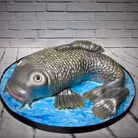 Fish Cake Made for a keen fisherman