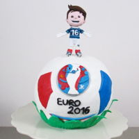 "Football Cake Euro 2016 Hi Sweeties, I've been wanted to make a football shape cake, and I thought ""What best occasion if not the Euro Cup?&amp..."