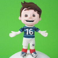 Football Player Cake Topper Hi Sweeties,Right now in France is held the UEFA European Championship, so i thought to make a Footballer and I was inspired by Super...