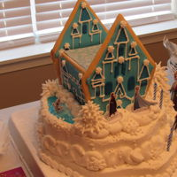 Frozen Snow Castle Frozen Snow Castle buttercream and sugar cookie design