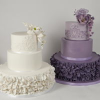 Gardenia One of our most popular designs. Done is white and purple for both weddings and birthdays!