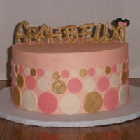 Gold And Pink Minnie Simple minnie mouse design