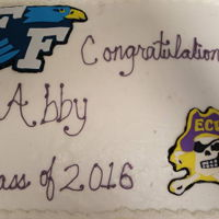 Graduation Cake And Cupcakes Graduation cake and cupcakes with High School and College mascots and colors