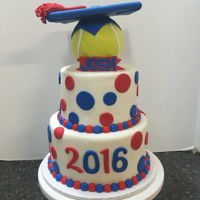Graduation Cake Tennis Themed