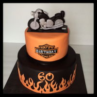 Harley Davidson Motorcycle Birthday Cake Birthday cake for a Harley Davidson rider. The motorcycle is mmf left to dry for several days.