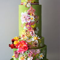 Hello Summer This cake has been inspired by Haute Couture. Fashion is one of my favorite themes. Summer is here. Let's us be colorful and cheerful...
