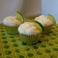 "Margarita Cupcakes Margarita cupcakes with sanding sugar ""salt"" and a twist of lime"
