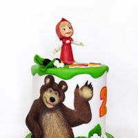 Masha And The Bear Cake Some favorite cartoon characters are very different sizes, and if you do them in the right proportions, large figures come very bulky and...