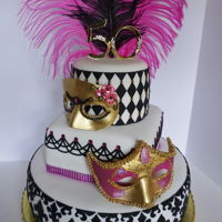 Masquerade Cake Masquerade 50th Birthday Party Cake