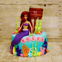 Mermaid Birthday Cake An Ariel Mermaid birthday cake