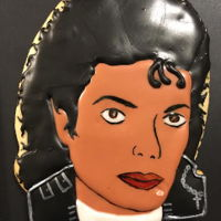 Michael Jackson Cookie  Made with Chef Master liqui-gel colors, the facial features were made using a new nail art brush to underline the eyes and line the nose...