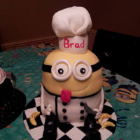 Minion Chef minion chef cake for a cooks birthday
