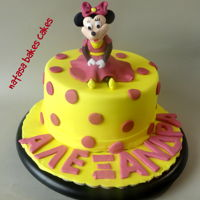 Minnie Mouse Birthday Cake A minnie mouse birthday cake for a sweet little girl!! I made the cake topper as well! Thanks for stopping by...me facebook page is: https...
