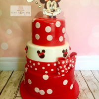 Minnie Mouse Dreams Cake Three tier cake made for a Minnie Mouse lover