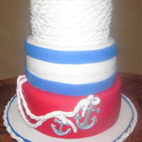 Nautical Retirement Cake 3 tier Nautical retirement cake