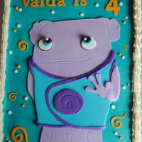 Oh From The Movie, Home This is a single 1/4 slab covered in buttercream with fondant accents. Thanks for looking!
