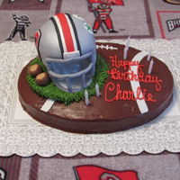 Ohio State Buckeye Fan Cake Ohio State Buckeye Fan Cake. Buttercream and Fondant design