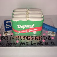 "Over The Hill Birthday Cake  It all ""depends"" how you look a it! I can't take credit for the idea, I was given a photo of the cake she wanted. With over..."