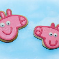 Peppa Pig Cookies Royal Icing Sugar Cookies for my sons Peppa Pig party