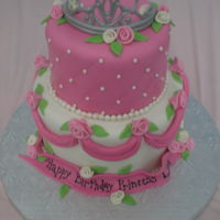 Pink Princess I made this cake for my daughters birthday. it is a tiered fondant cake.
