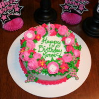 Pink Rose Ring Cake Buttercream