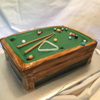Pool Table Groom's cake made of Carrot cake and cream cheese filling.