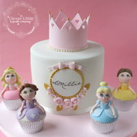 Princess Cake Based on an original design by Rosy Cakes, plus my signature princess cupcakes :-)