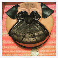 Pug Dog Cake Birthday cake for a Pug lover!