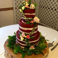 Red Velvet Naked Cake Donated to a wounded Soldier for a beautiful wedding. Everything for the wedding was donated. I was happy to be a part of this special...
