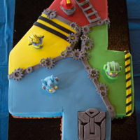 Rescue Bots Cake Fondant covered with handmade decorations