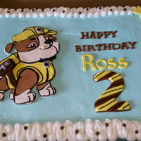 Rubble Paw Patrol Birthday Cake Rubble Paw Patrol Birthday Cake