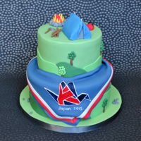 Scouting Cake Scout themed cake to celebrate the 2015 Scout Jamboree in Japan