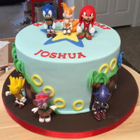 Sonic Dash Cake 8 inch cake, Fondant with toy accents.