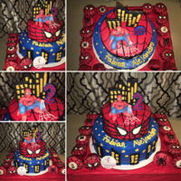 Spiderman 2 LEVELSBUTTERCREAM DECORE AND 3D SPIDERMAN FONDANT14¨ Nutella and strawberry cake with chocolate filling8¨ Oreo vanilla...