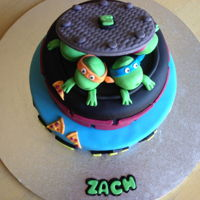 Teenage Mutant Ninja Turtles Vanilla and chocolate cake